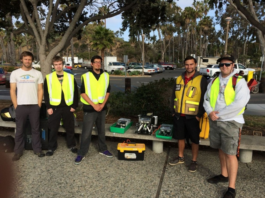 Ben Pitterle (Watershed and Marine Program Director, SB Channelkeeper) and our AARR oil spill team; Tim, Paul, Chris and Blake.