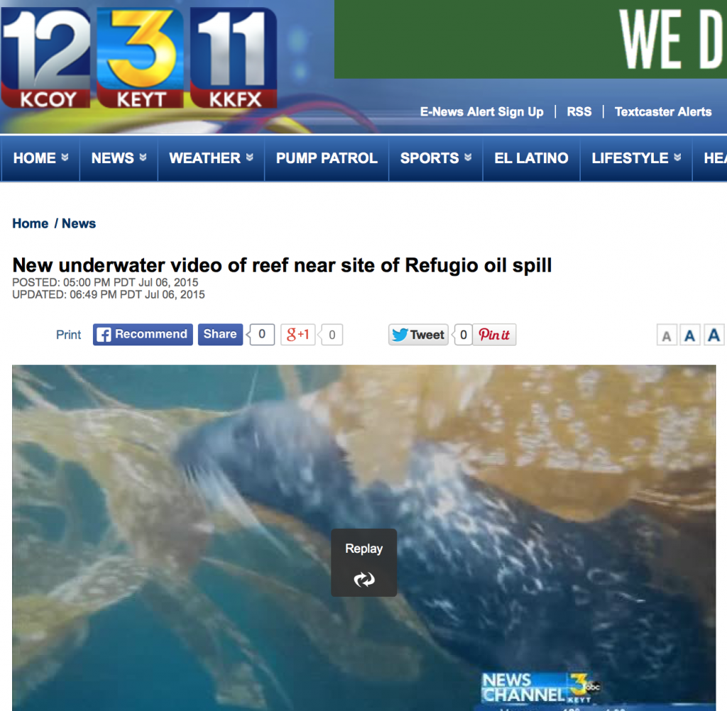 KEYT Coverage of Coastkeeper Naples SCUBA Trip July 2015 b