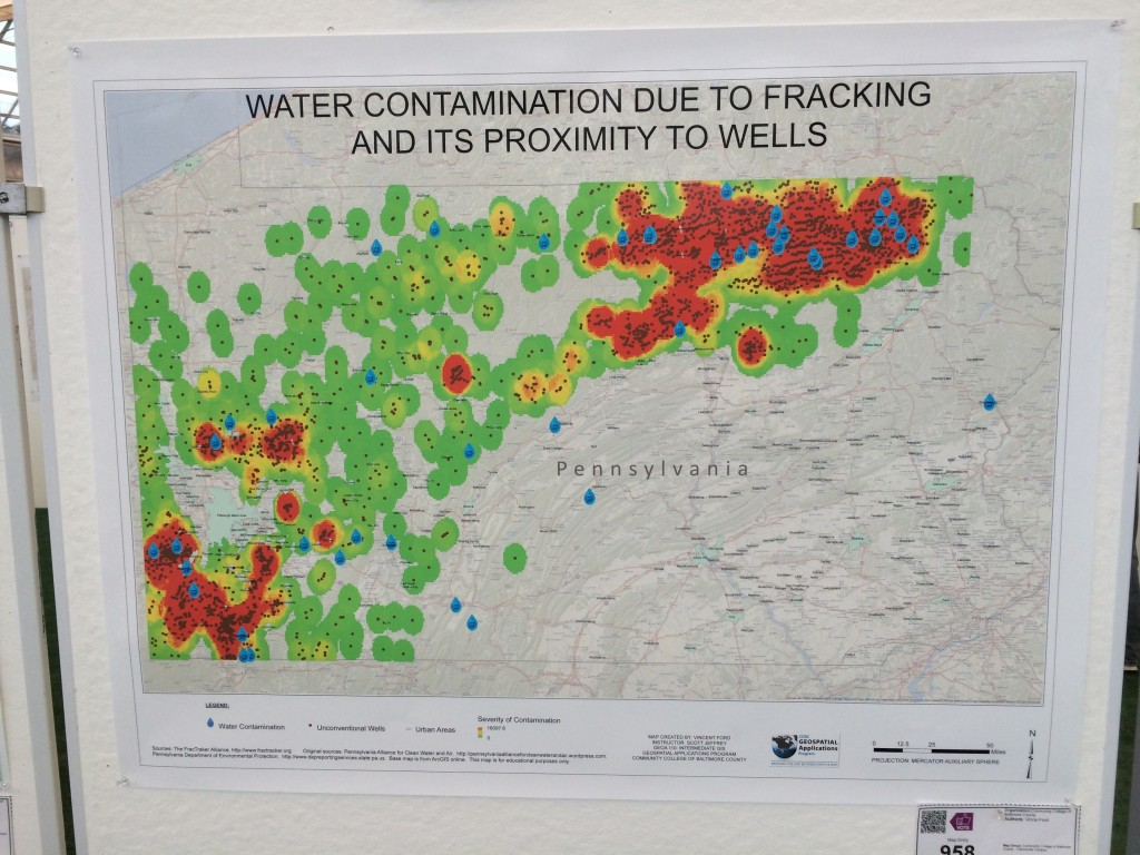 Penn Fracking Map ESRI 2015