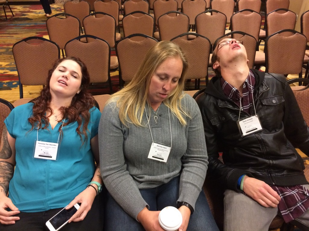 Vanessa, Dorothy & Tevin are tired WSN 2015