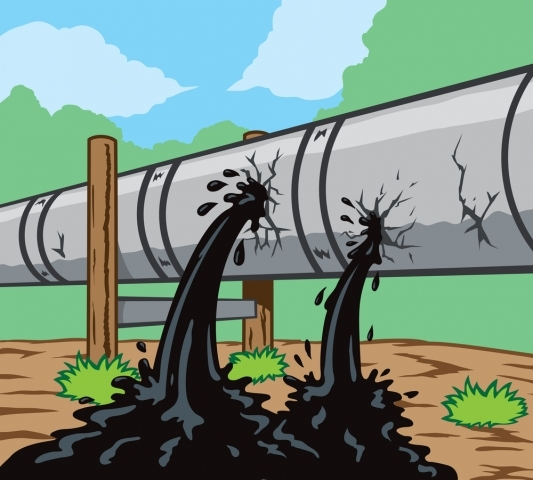 oil pipeline break