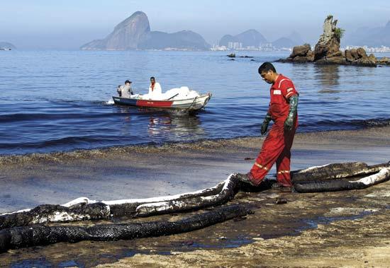 June 2015 Petrobras pipeline spill. Image: AP.